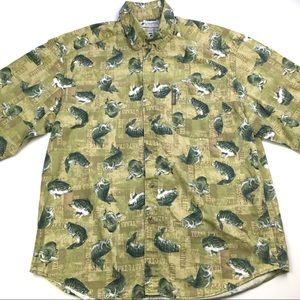 Columbia Button Down Shirt with Bass Print